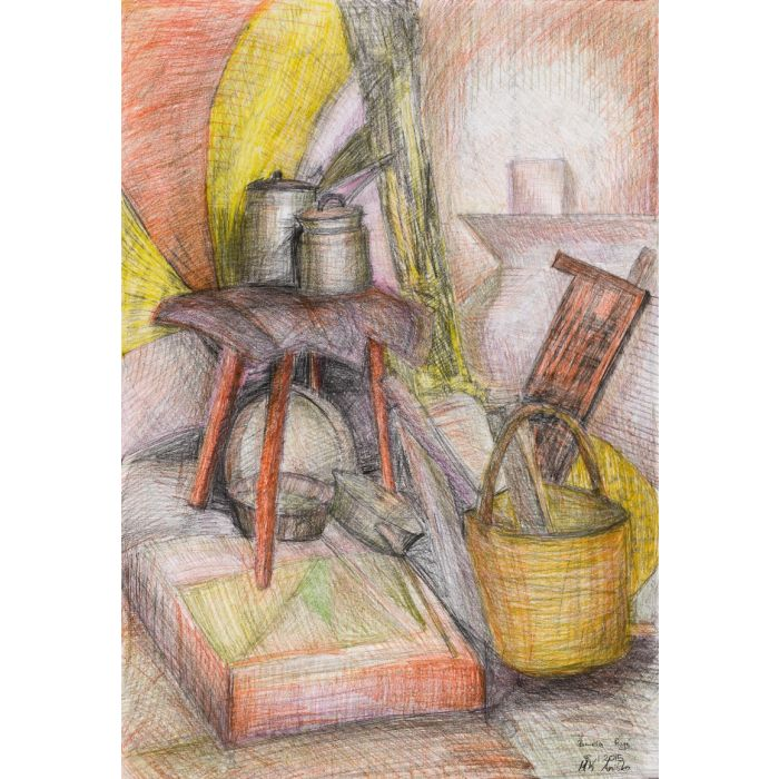 Still Life with a Stool