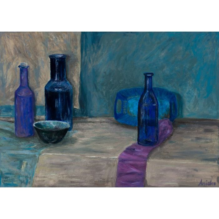 Still Life with Blue Bottles