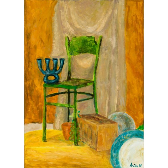 Still Life with Green Chair