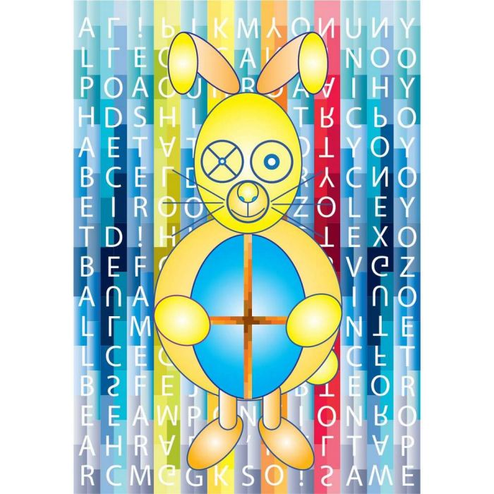 Game of Toys - Easter Rabbit with A to Z Toys - A4 Print