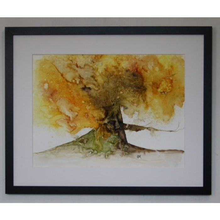 Tree of Fire 2 Original watercolour Framed (INCLUDED)