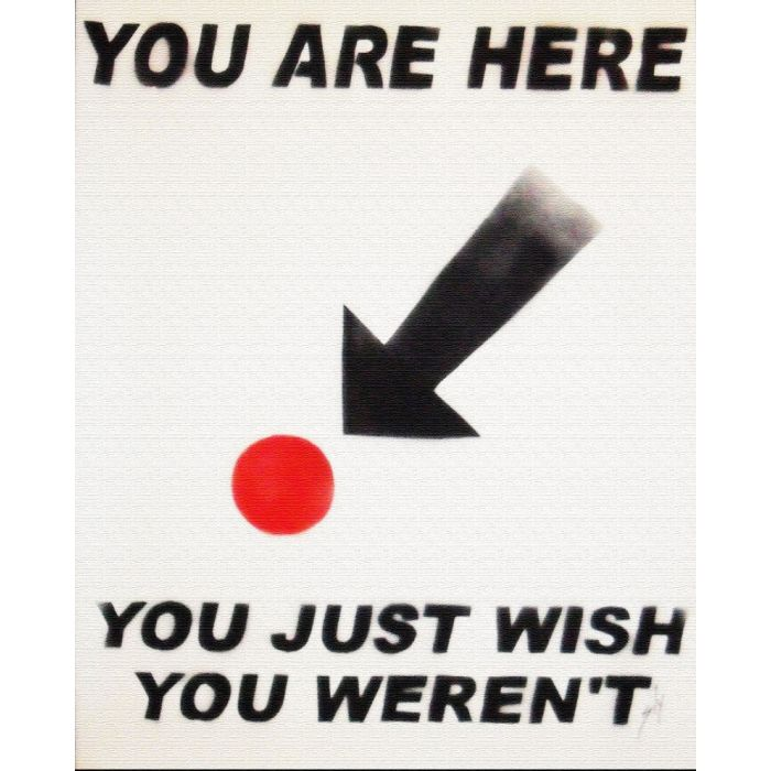 You are here (on canvas).