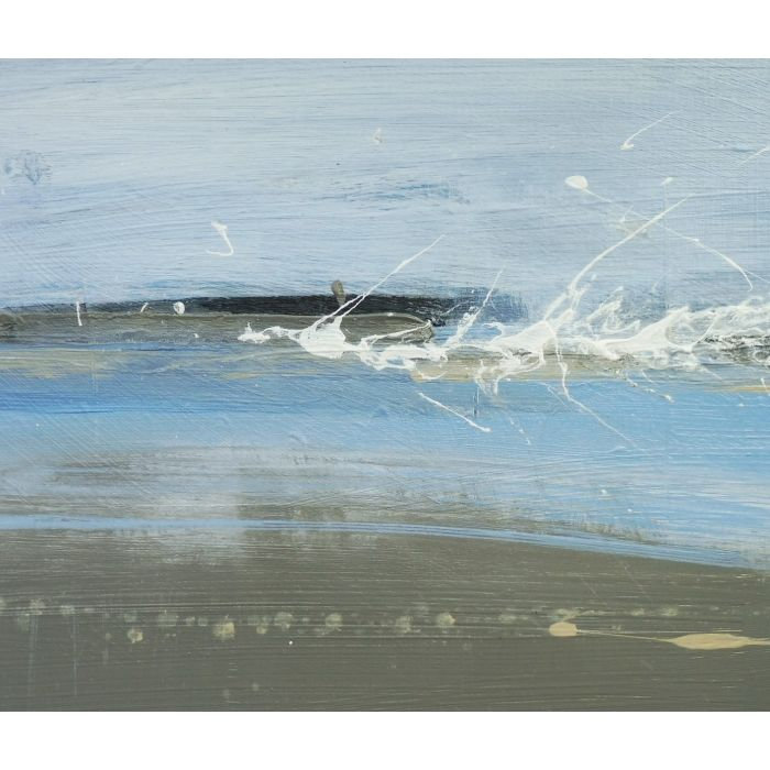 SPRING TIDE HEADLAND. Original Acrylic Landscape Abstract Painting. Varnished. With Mount (mat).