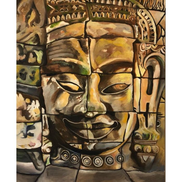 Buddhist Temple Oil Painting