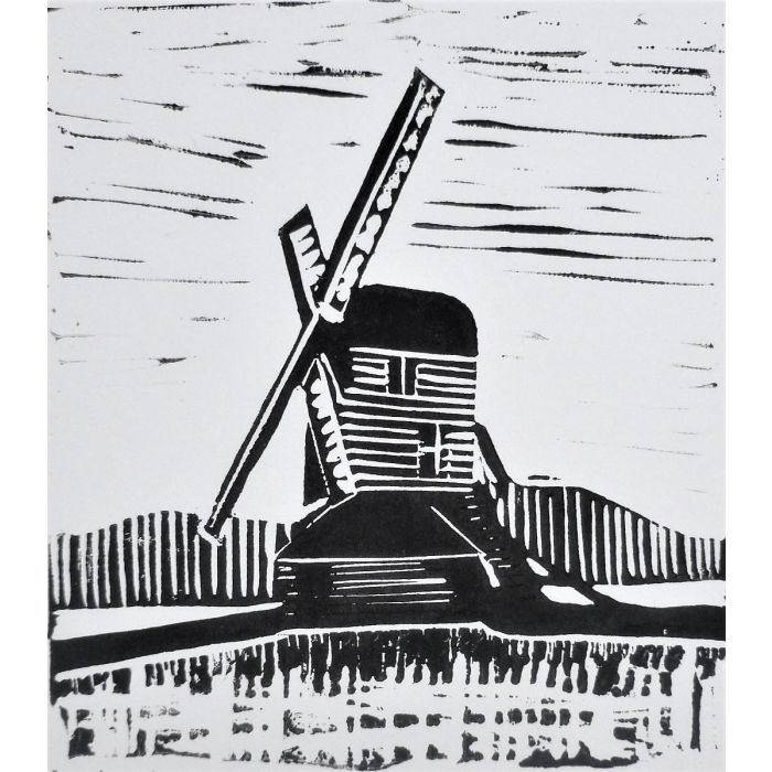 Windmill. Original Limited Edition Linocut Print