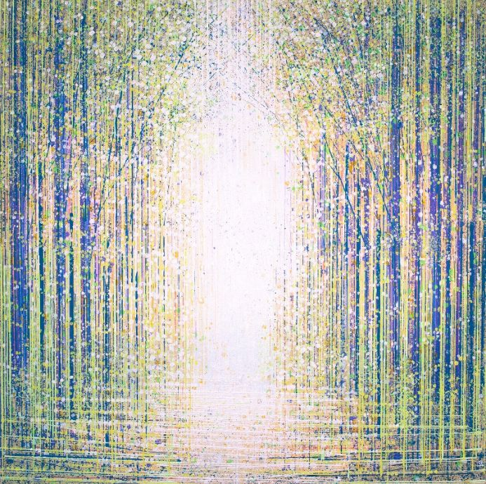 Sparkling Light In The Forest