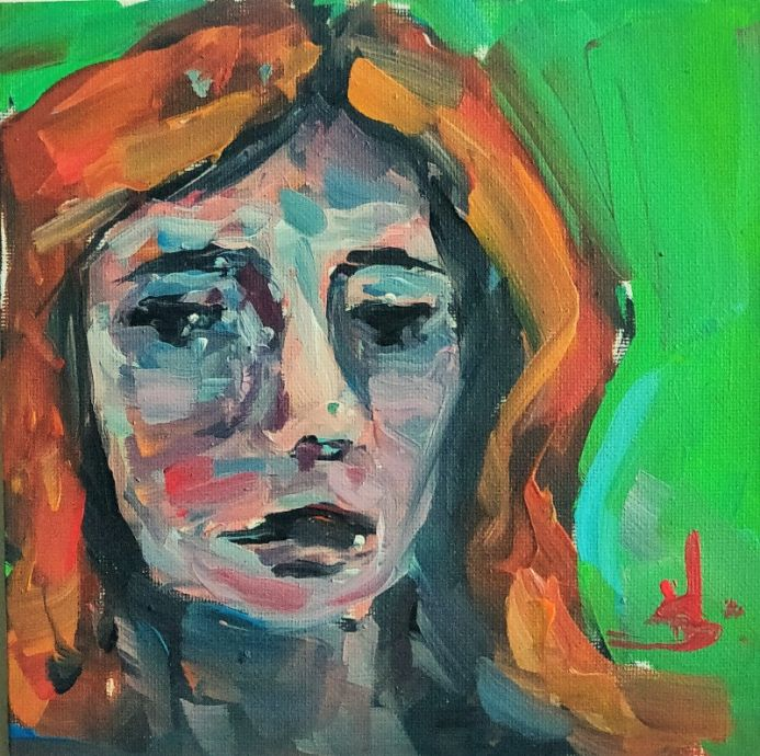 Ginger Hair Expressionist Portrait