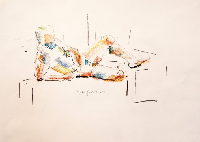Nude Study of The Male Figure - Life Drawing No 403