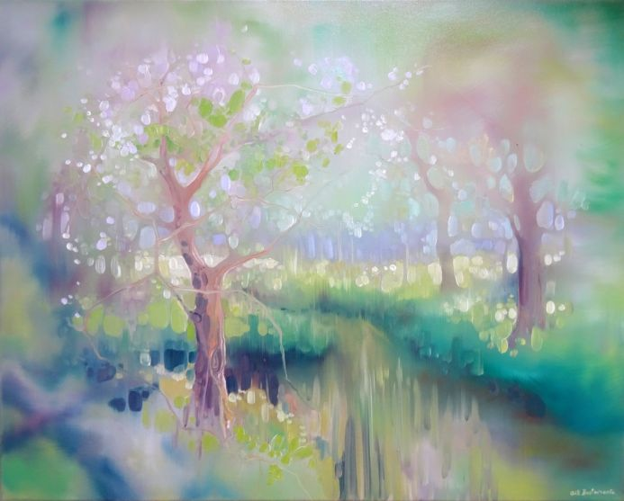 Glade by a River in Spring