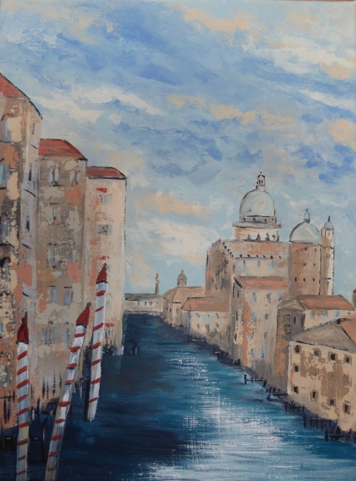 View down the Grand Canal, Venice