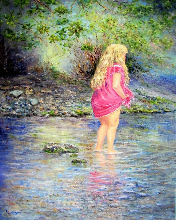 A Paddle in the Stream in my New Dress