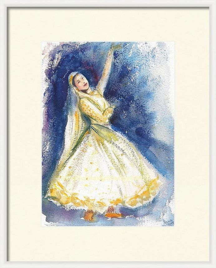 Kathak dancer in virtual frame