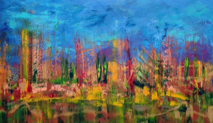 November wind - XXL abstract painting