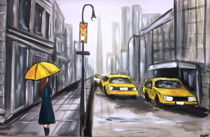 Yellow Umbrella 2