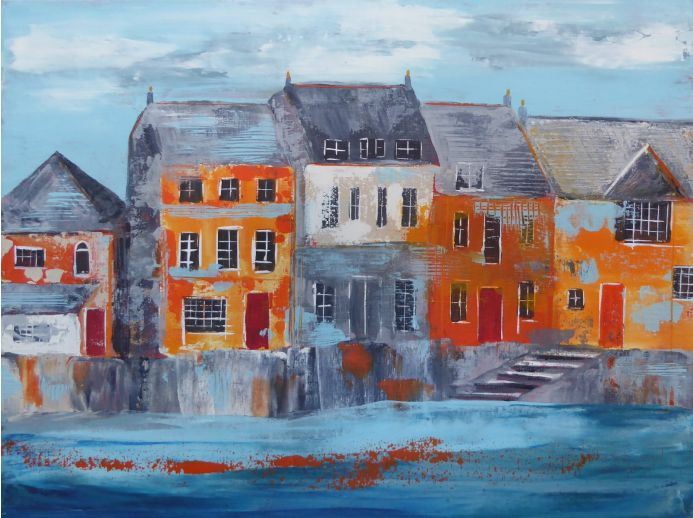 Padstow Harbour Houses