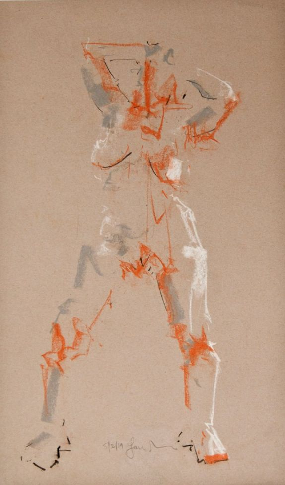 Study of Female Nude -Life Drawing No 355