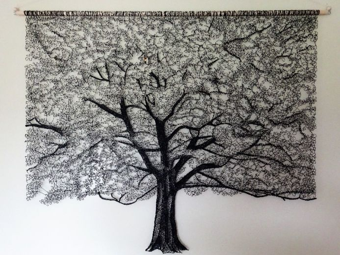 Lace Tree Wall Hanging 2