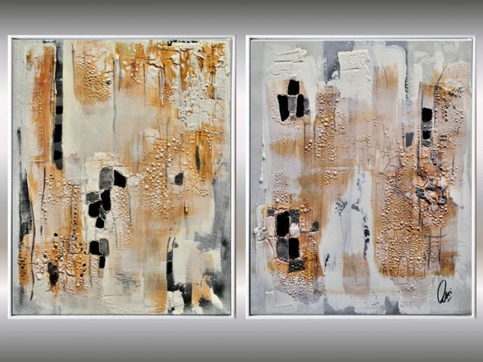 Visions - Abstract Paintings in Frame, Acrylic Artworks