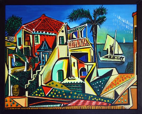 Picasso Mediterranean Landscape By Daniel Read Artgallery Co Uk