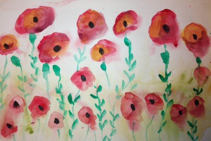 Card style poppies
