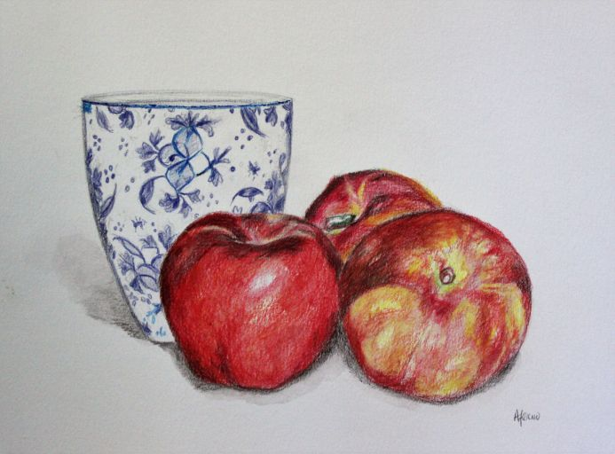 Delft Blue and Nectarines