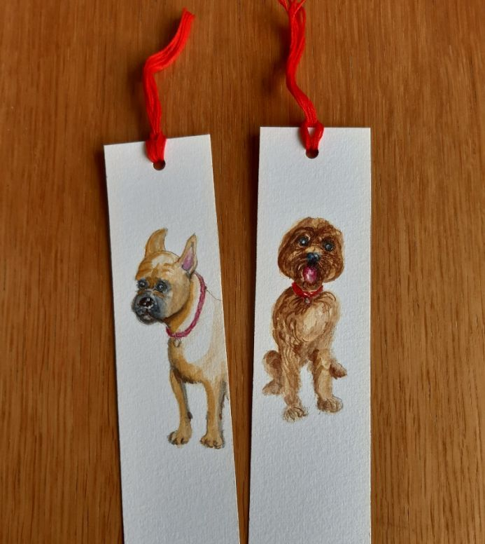 Hand-painted bookmarks