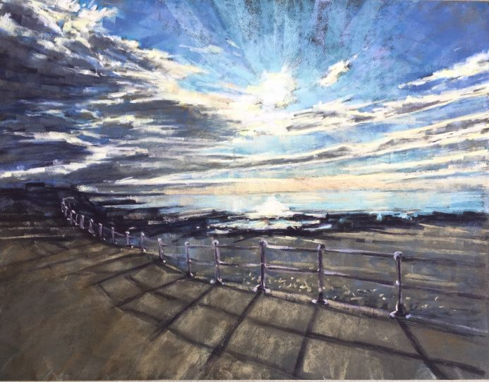 Pastel painting of Bude