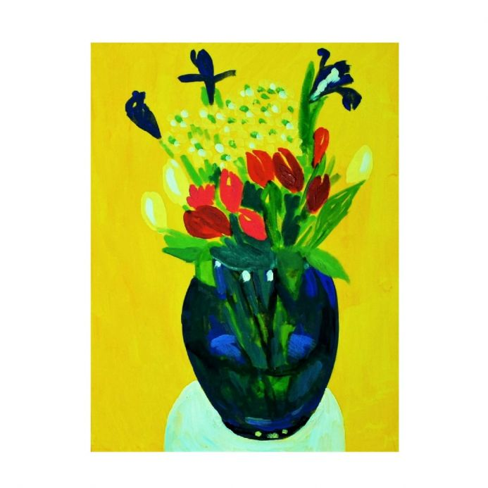 The Lovely Irises - Original Floral Art on Canvas