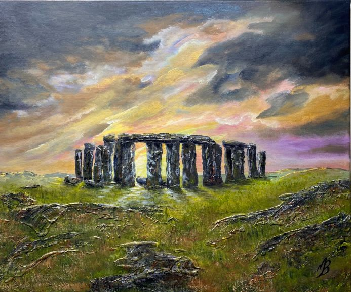 Stone Henge under a Colourful Sky