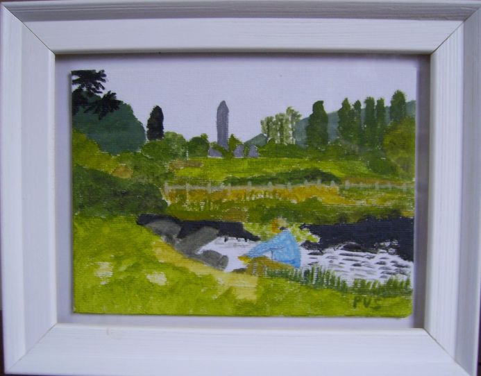 Six miniature paintings of Ireland No.4