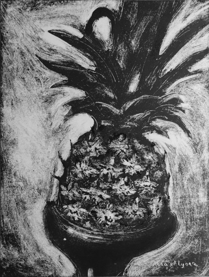 A Pineapple 9x12 inches