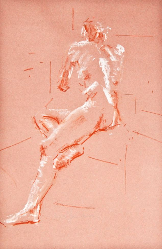 Study of the female nude - Life Drawing No 367