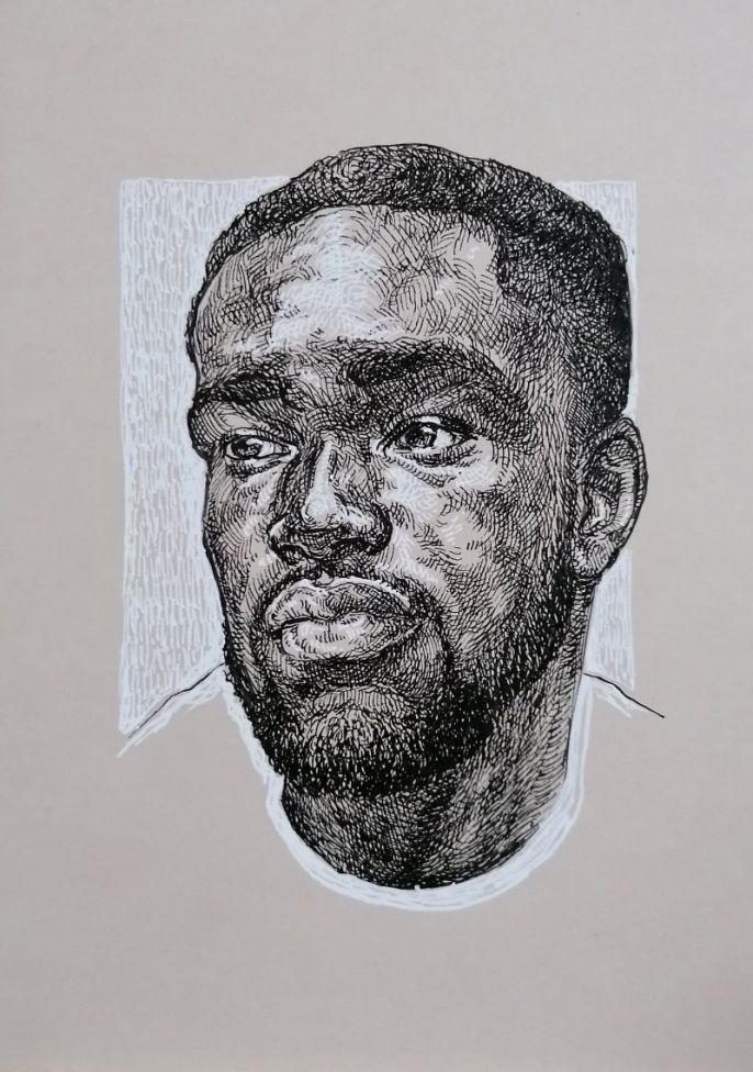 Portrait of a black man - ORIGINAL ART