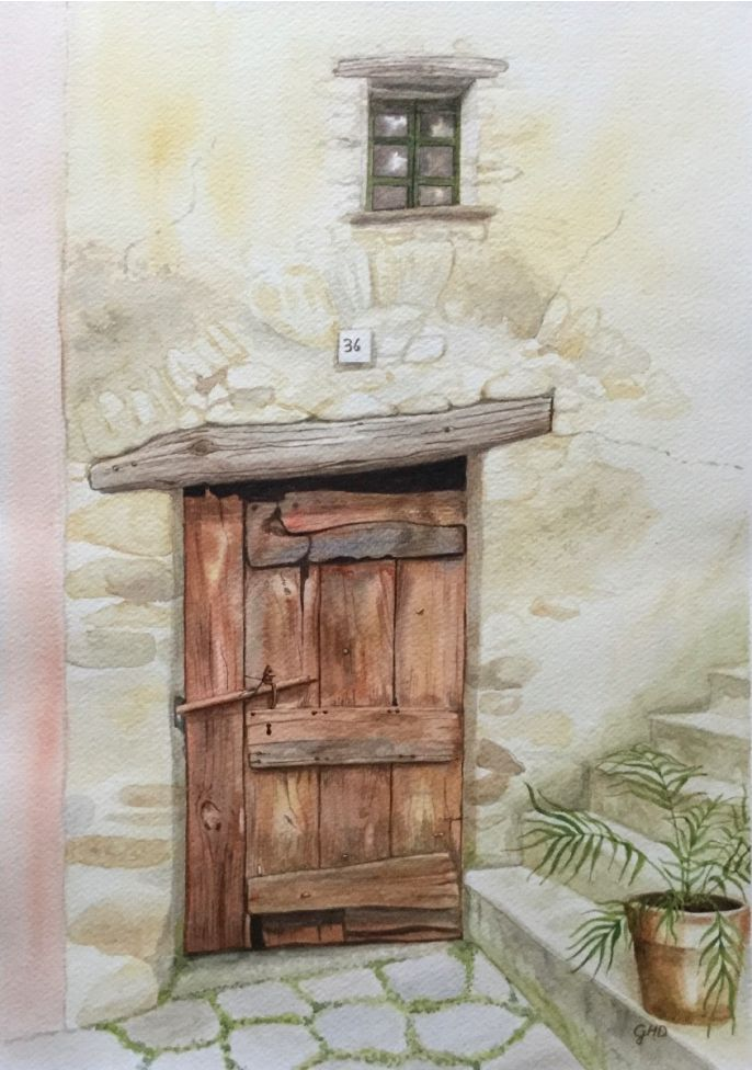BROWN WOODEN DOOR No. 36