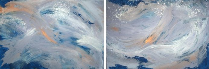 'SURFING' / DIPTYCH  / ABSTRACT PAINTING