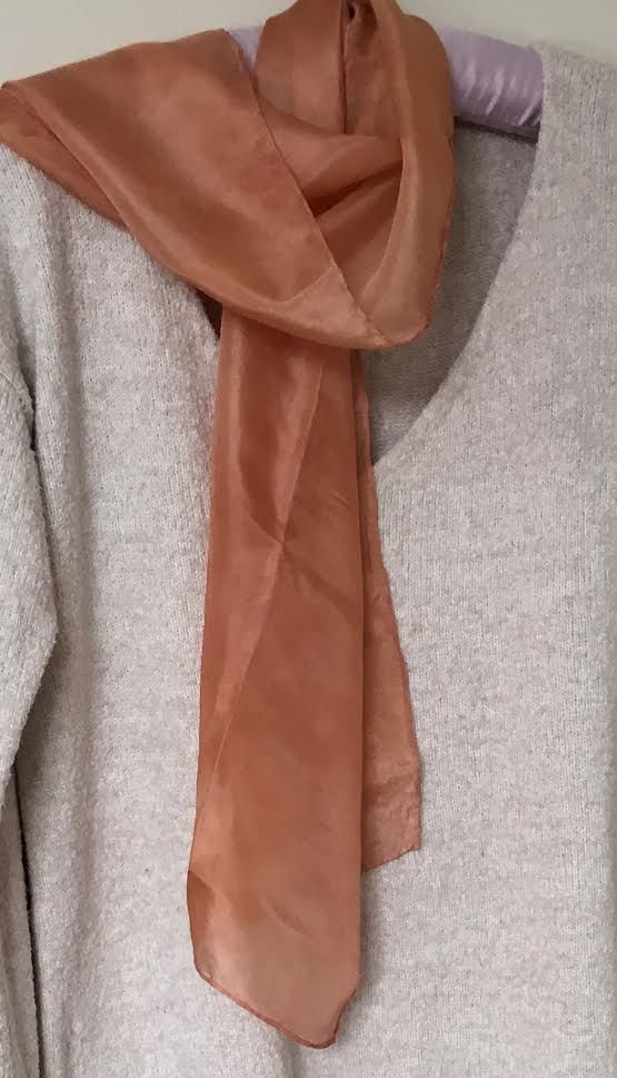 Botanically dyed Silk Scarf 'Apricot Sand'