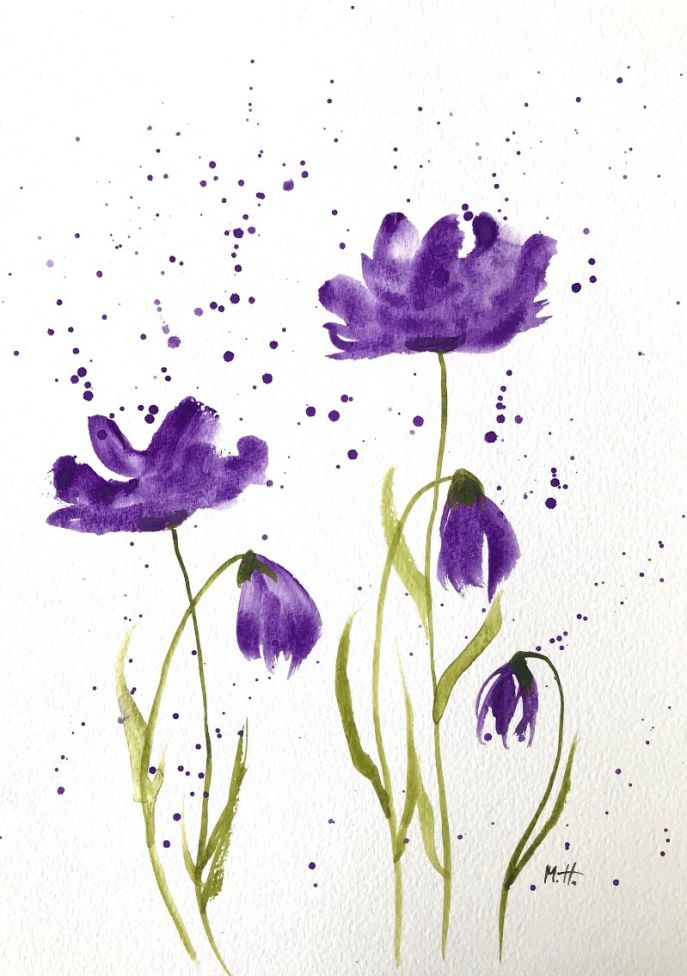 Purple flowers nr 14 A4