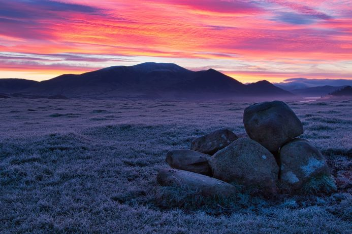 Frosted Mountains - Landscape, Lake District, Skiddaw, Mountain Range.