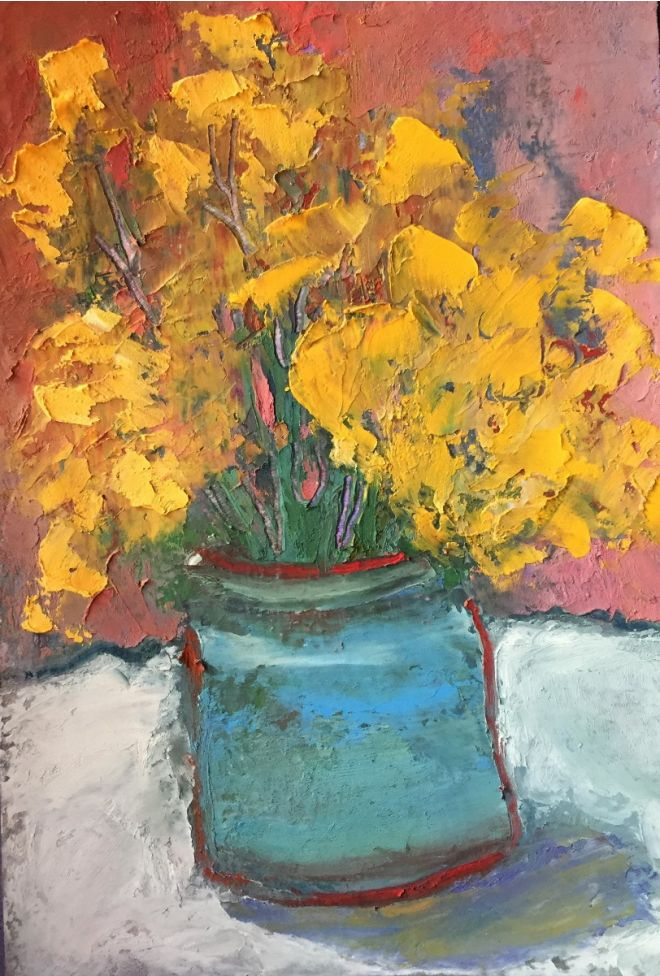 Still life Bouquet Of Yellow Flowers