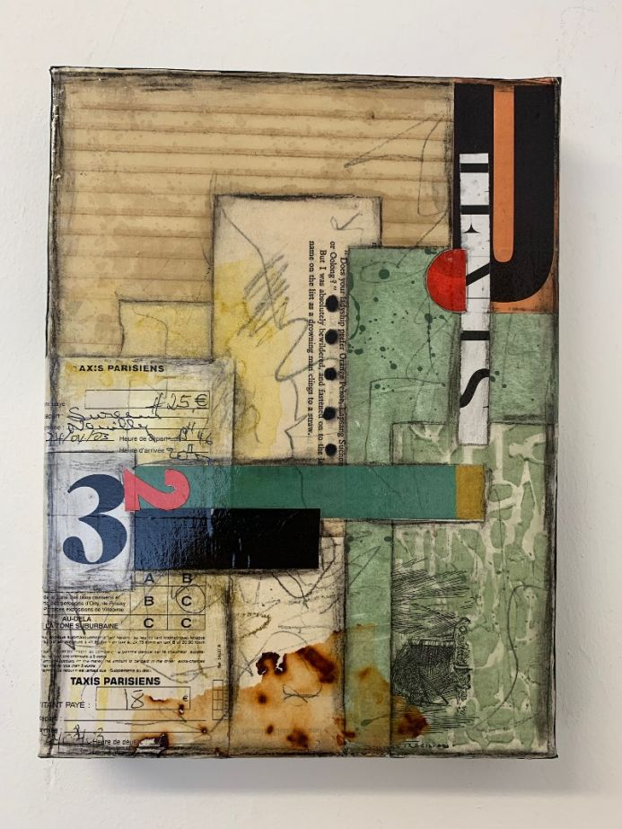 Untitled, mixed media collage, abstract art, wall art