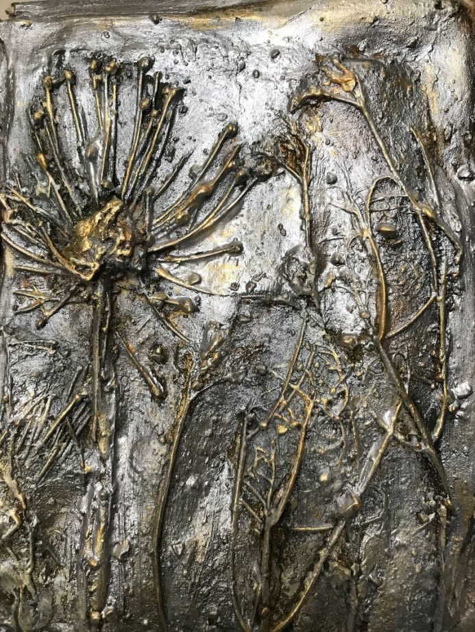 Fossilized In Silver And Gold
