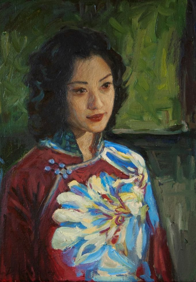 Kailun. Portrait of a Chinese lady.