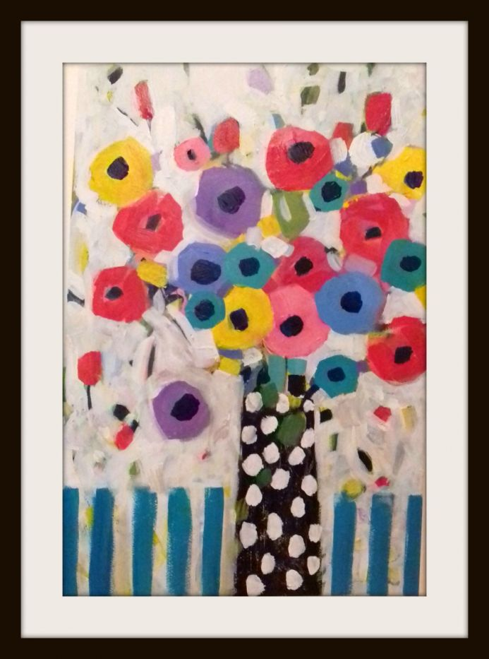 Summer Flowers in a Polka Dot Vase