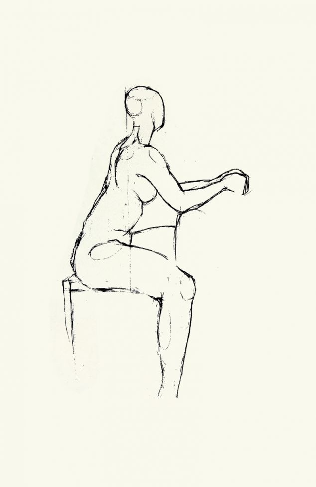 Small nude on chair