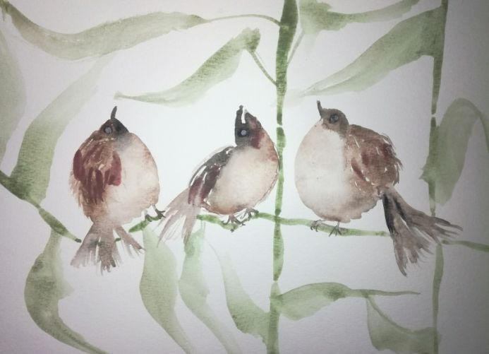 Three Singing Birds