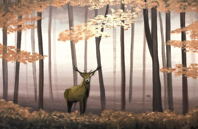 Stag In The Woods