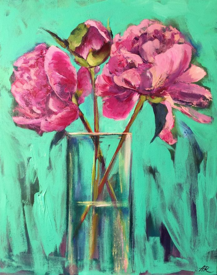 Perfect  Moment. Floral Painting.
