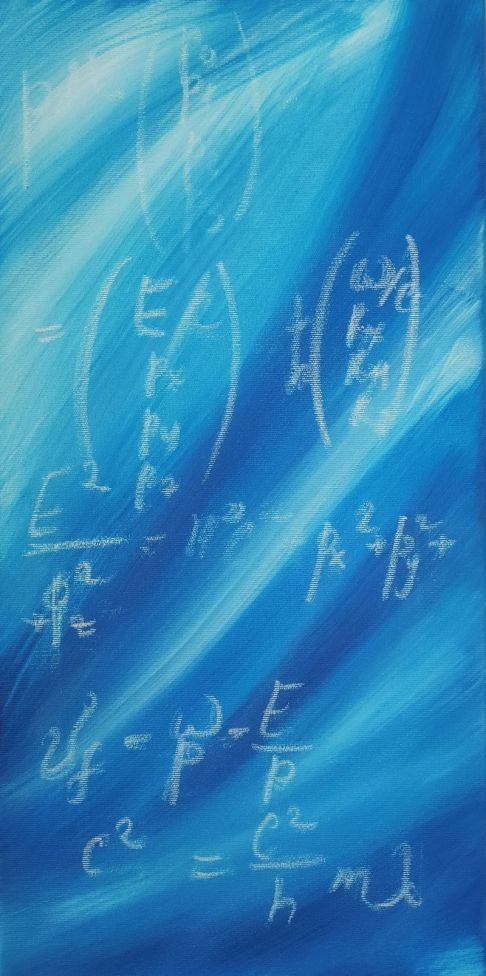 Wave theory 009, Science painting blue
