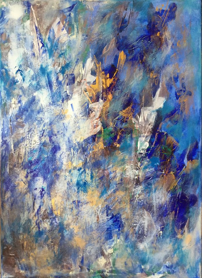 Blue and Golden Abstract