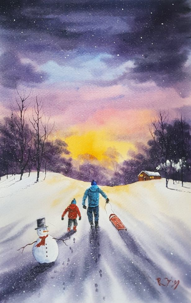SLEDGING WITH DAD
